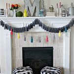 DIY Tag Garland & Colorful Summery Mantle