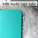 DIY Password Keeper with Washi Tape Tabs