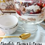 Chocolate, Cherries & Cream Trifle