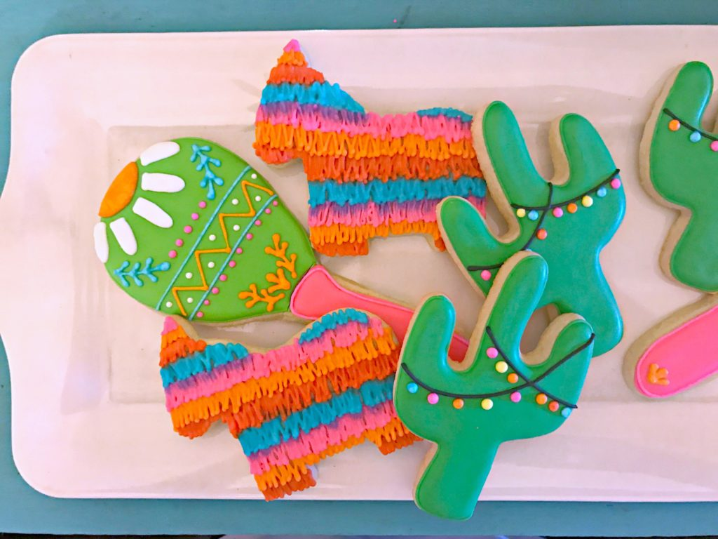 Fiesta Cookies! Throwing a Fiesta?! It's the perfect theme for any occasion! Get tons of Fiesta decor ideas & inspiration here!