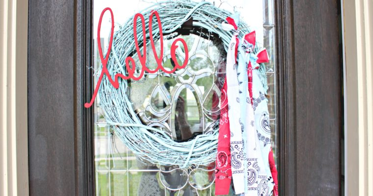 Patriotic Bandana & Grapevine Wreath