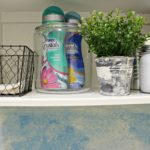 DIY Watercolor Wall {Laundry Room Decor}