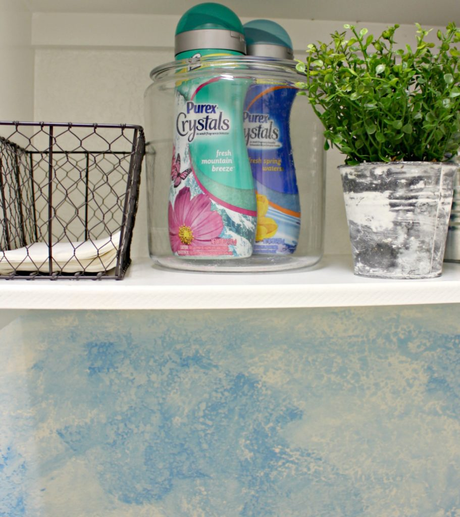 DIY Watercolor Wall! Get the Full Tutorial for a Quick, Accent Wall Here! #Ad #PurexCtrystalFresh