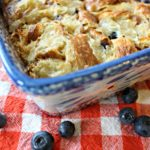 Blueberry Croissant Breakfast Bake