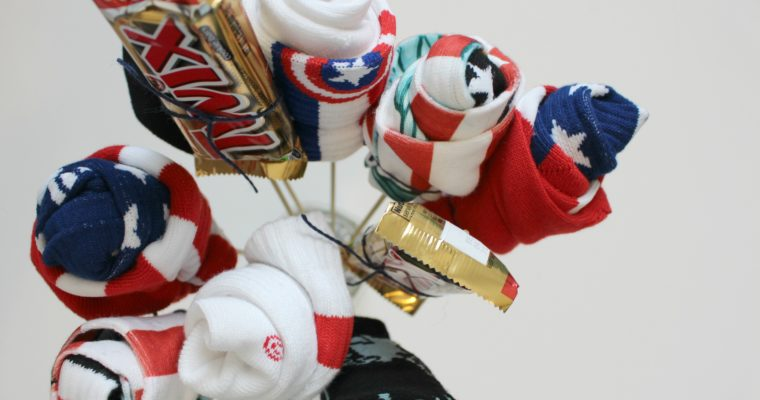 Manly Gift Idea- DIY Sock Bouquet