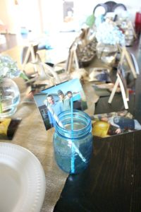 Photo Table for Father's Day! Great idea for birthday tables or graduation parties too!