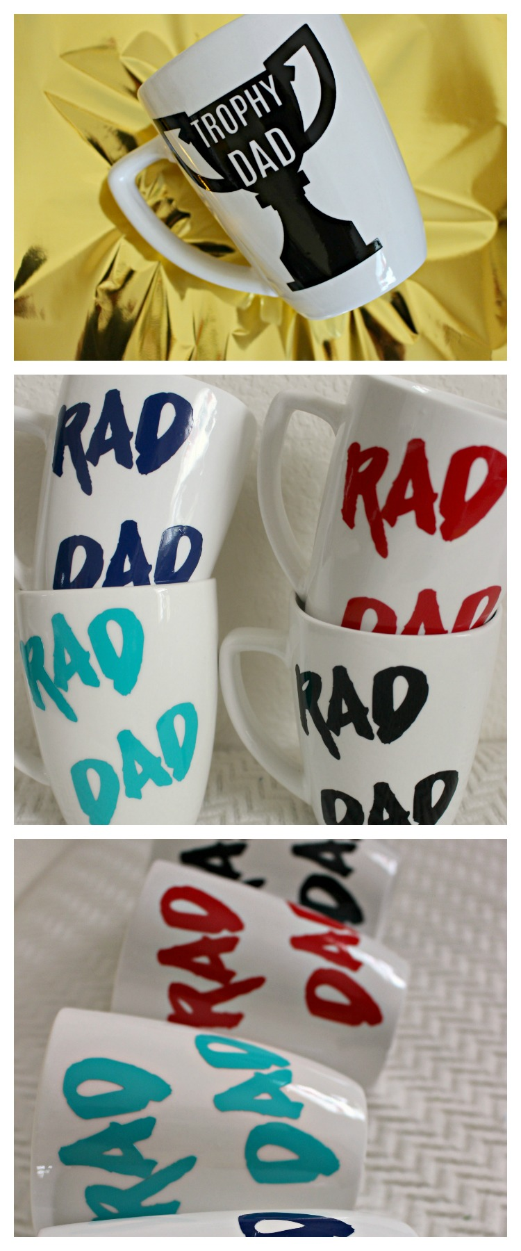 DIY Father's Day Gift Idea- Vinyl Mug- Fill with Dad's Favorite treats or a gift card!