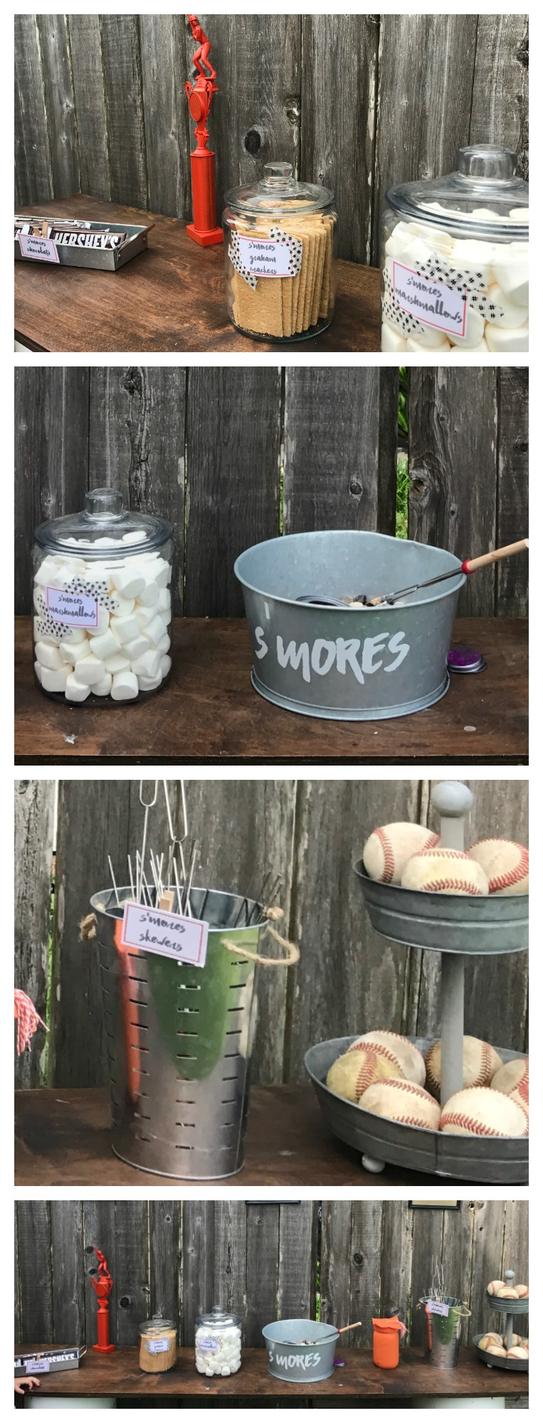 DIY S'mores Bar without a Fire! Perfect for a Grad Party or Any Event!