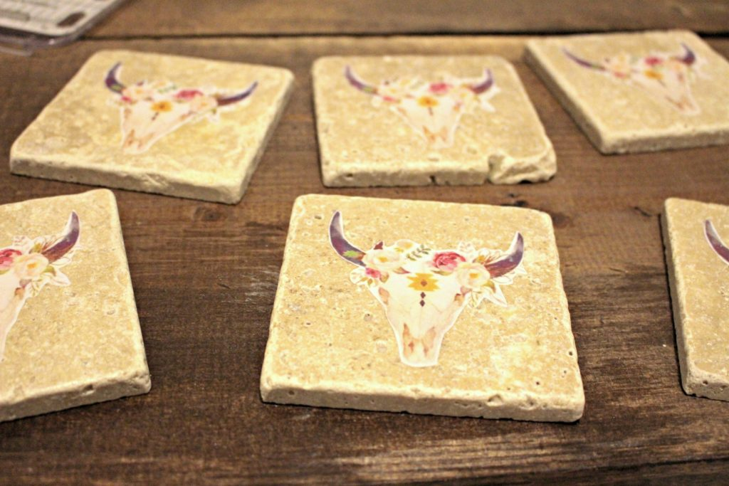 DIY Tile Coasters- Personalize for any occasion or gift! So cheap to make & adorable, even kids can help!