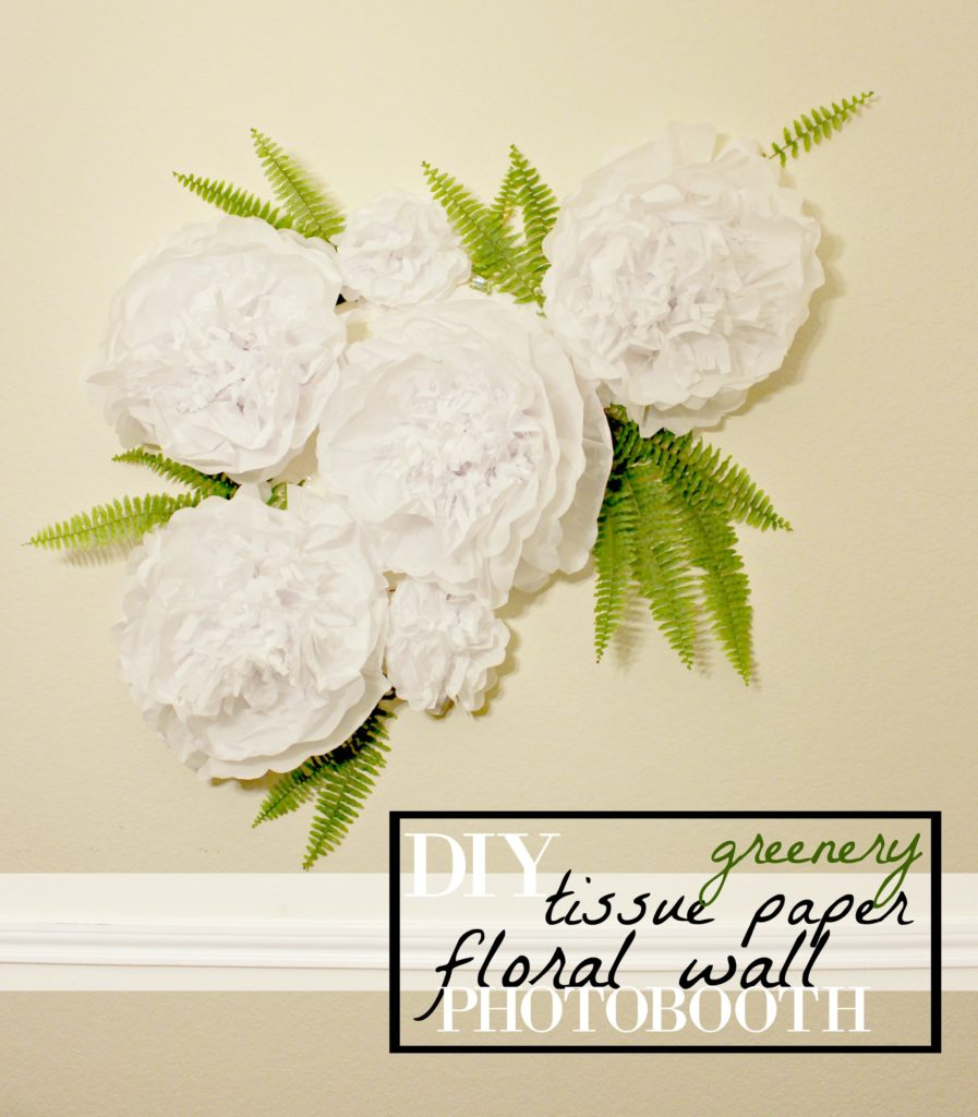DIY Tissue Paper Flower Wall with Greenery for Photo Backdrop & Party Decor #CelebrateAllSummer #Ad
