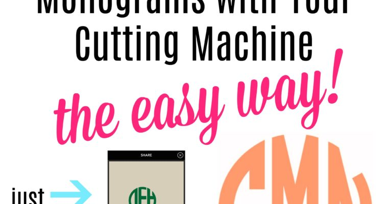 How To Cut a Circle Monogram- The Easy Way!