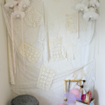 How to Create a Lacey Backdrop for a Photo Booth!