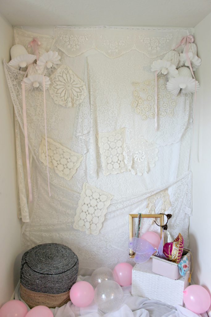 How to Make a Lace Photo Backdrop, Perfect for A Bridal Shower,  Baby Shower, Wedding, Party, Graduation, etc.
