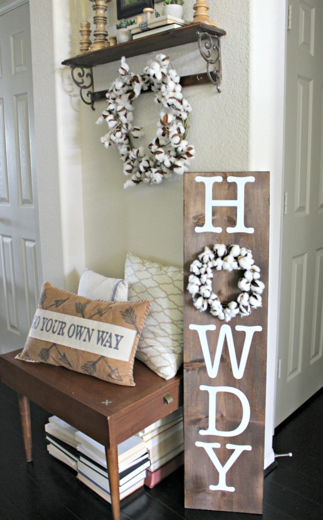 DIY Howdy sign for the front porch, entryway or anywhere in your home!
