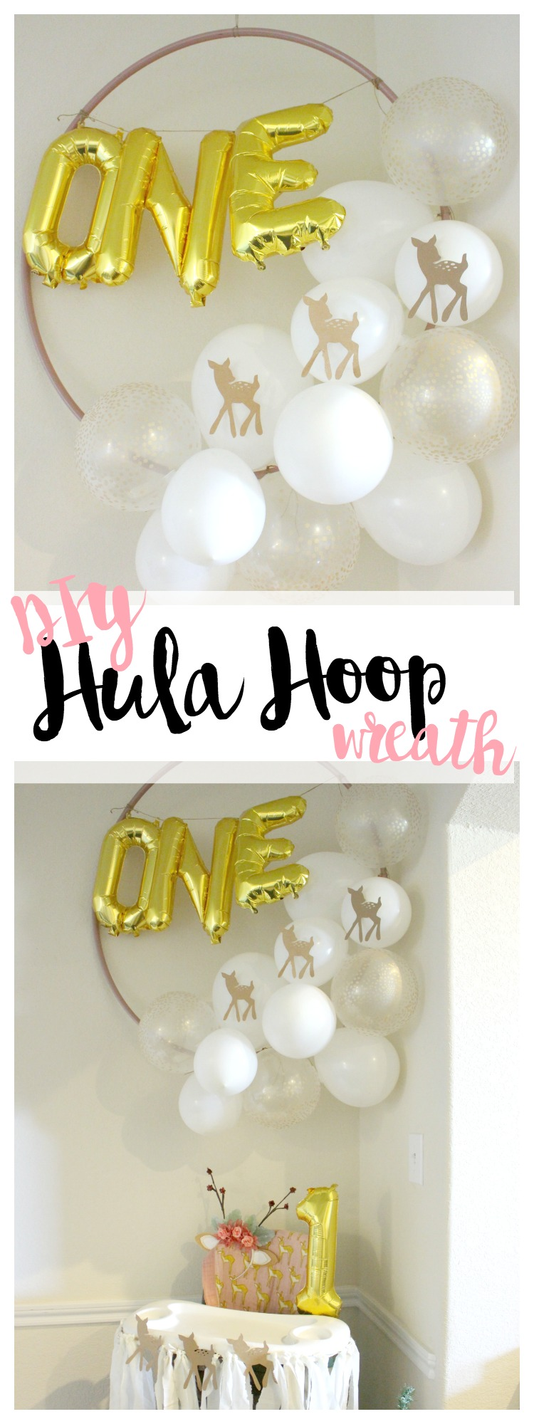 DIY Hula Hoop Wreath! These are so Easy & CHEAP to Make! Add pizzazz to any party, celebration or get-together!