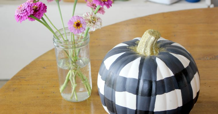 Plaid Painted Pumpkins
