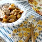 Slow Cooker Pork Loin with Apples & Potatoes!
