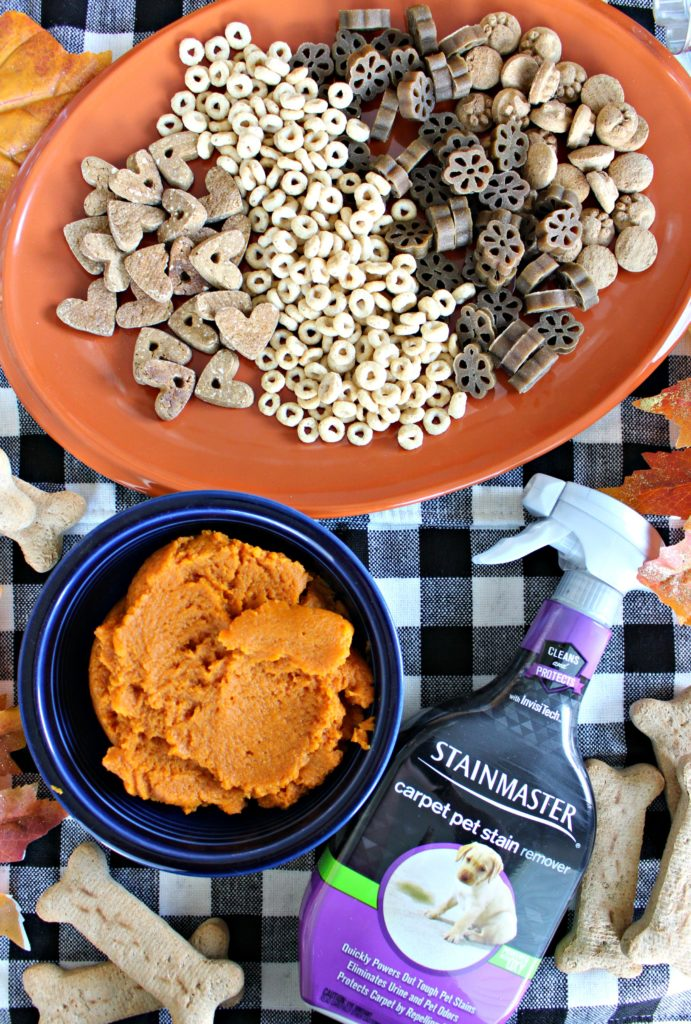 Semi-Homemade Pumpkin Dog Treats for Fall! #SeasonalSolutions #ProtectFromPetMess #AD