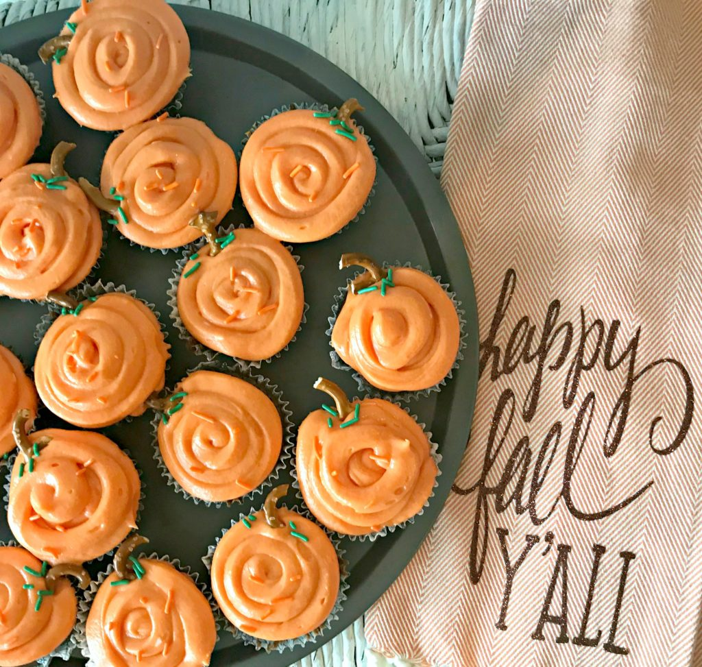 Simple & Sweet Pumpkin Cupcakes are Wonderful or Fall, Halloween & Thanksgiving Treats!