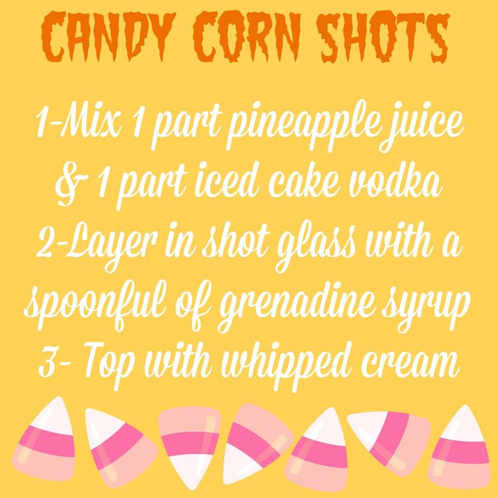 Candy Corn Shot Recipe for Halloween!