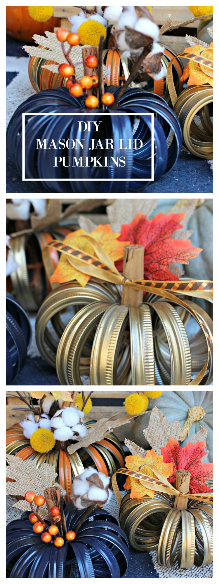 DIY Mason Jar Lid Pumpkins are Simple Fall Decor Crafts You can Make at Home!