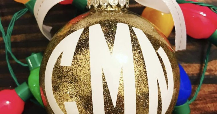 How to Make Glittered Ornaments