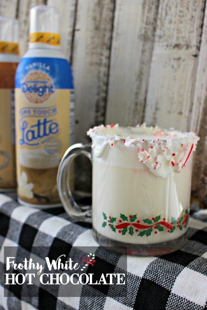 Homemade & Frothy- White Hot Chocolate is the Perfect Treat for the Holiday Season! #LatteMadeEasy #AD