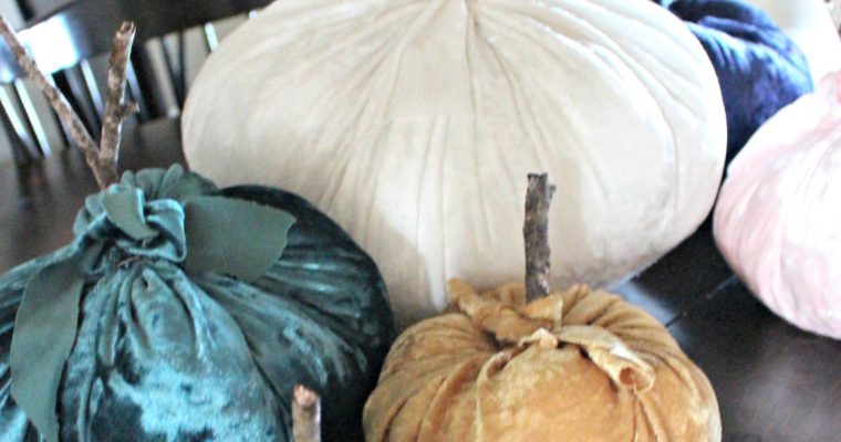 How to Make Velvet Pumpkins!