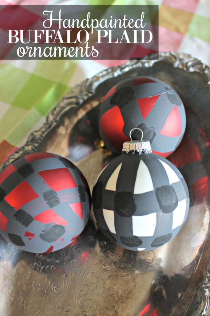 How to Paint Buffalo Plaid Ornaments for Your Christmas Tree!