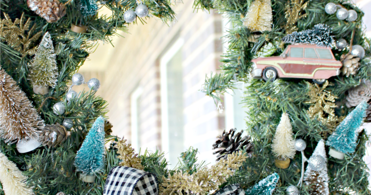 Bottle Brush Tree Wreath