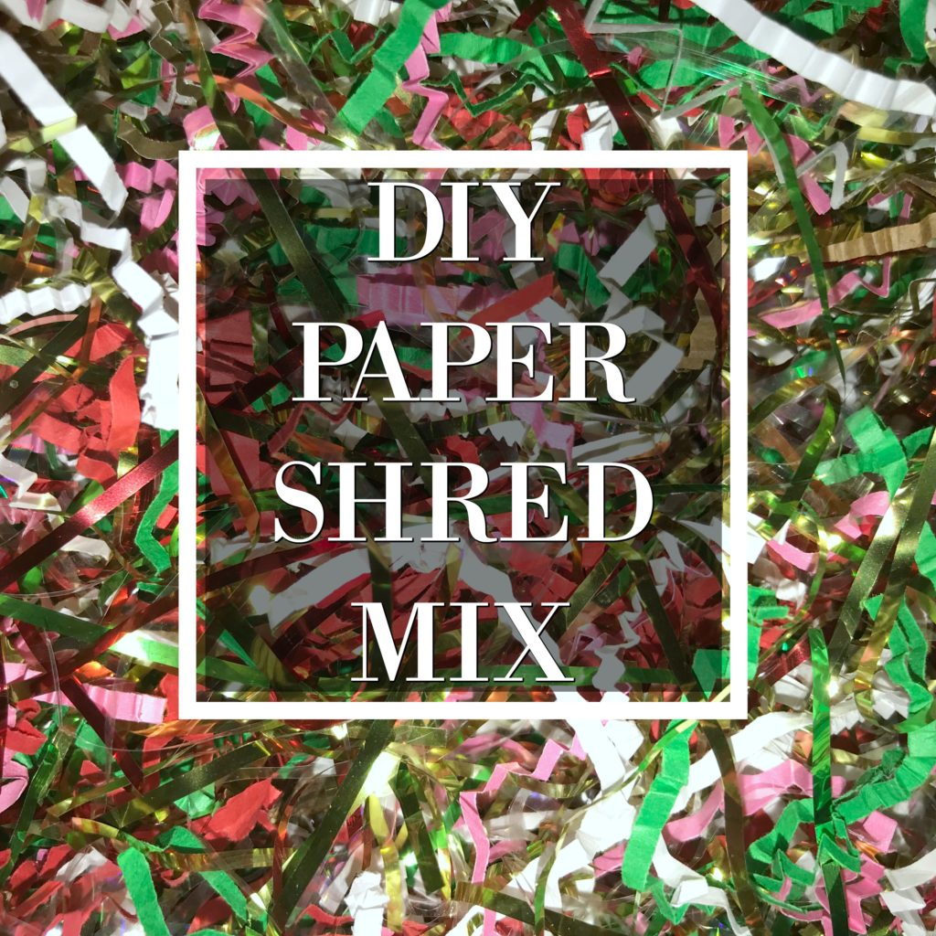 Make Your Own Paper Shred Mix for Creative Christmas Wrapping! #Christmas #GiftWrapping