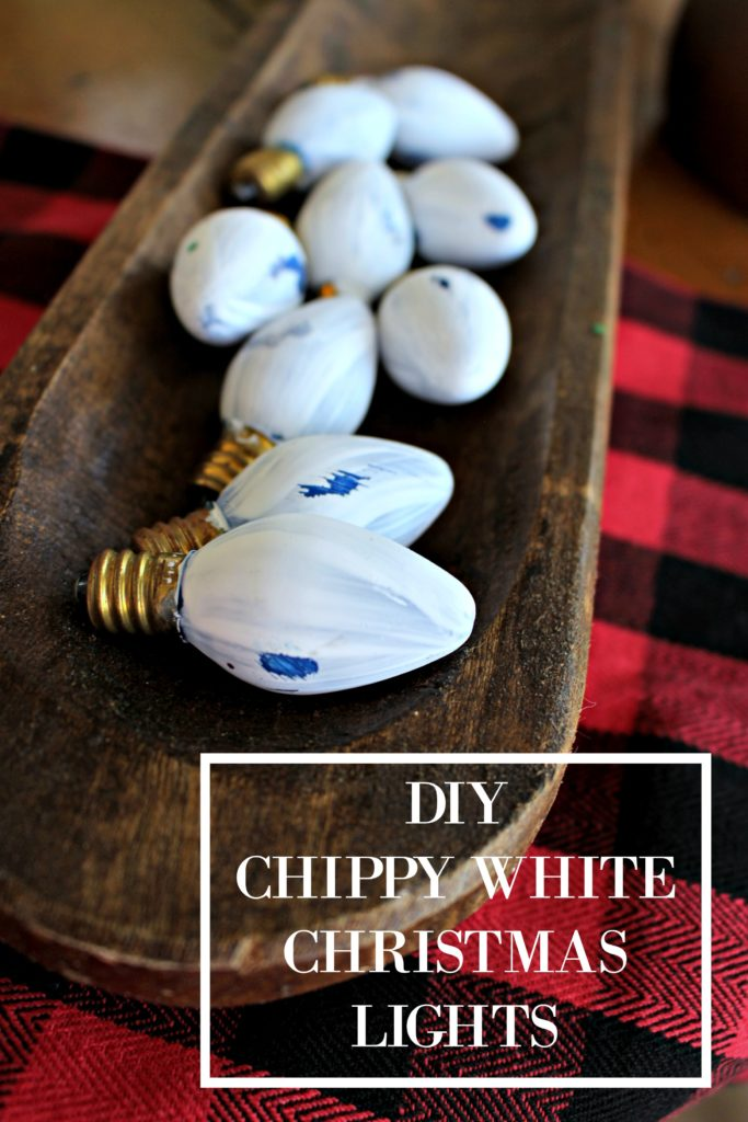 How to Paint Old Christmas Lights to Add a Rustic, Farmhouse Touch to Your Christmas Decor!