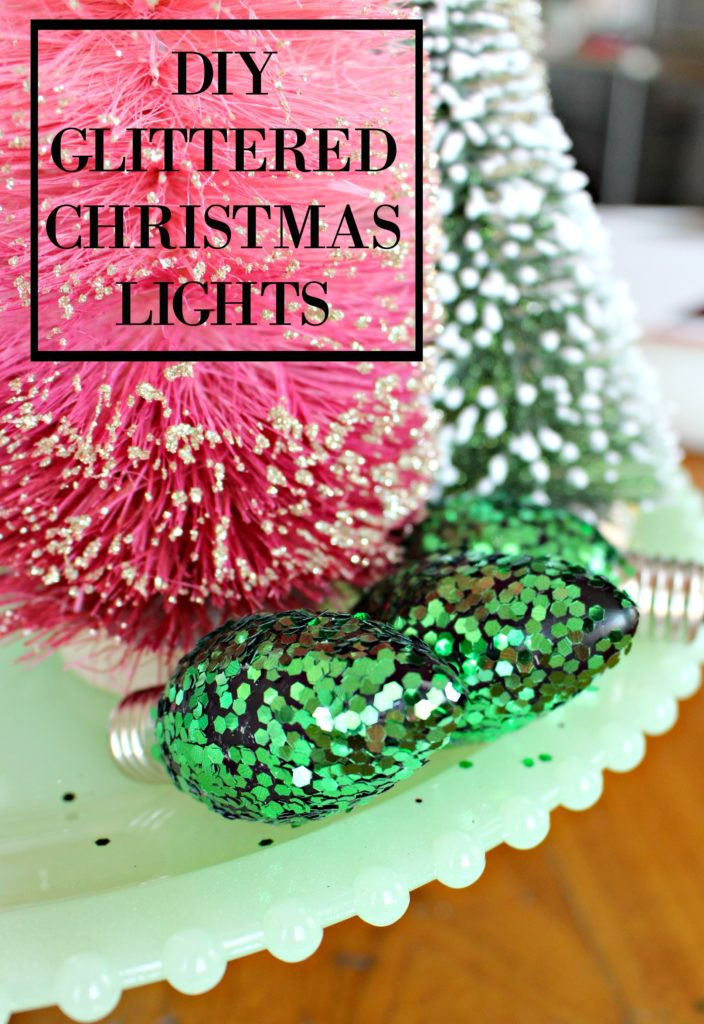 How to Glitter Old Christmas Lights to Add a Shiny & Bright Touch to Your Christmas Decor!