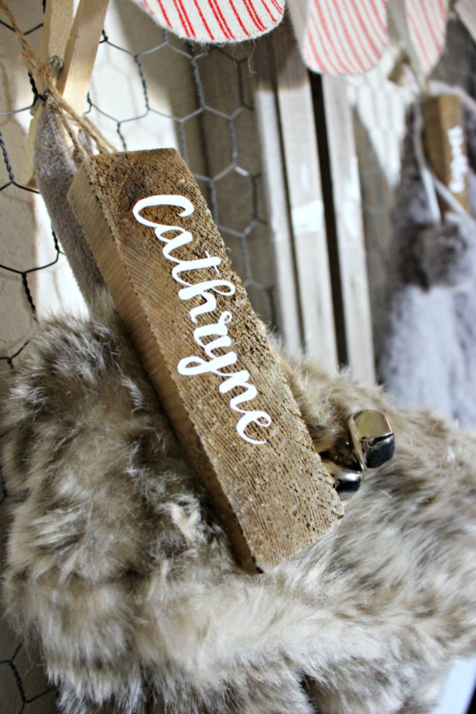 DIY Farmhouse, Wood Stocking tag! #ChristmasCrafts #Farmhouse