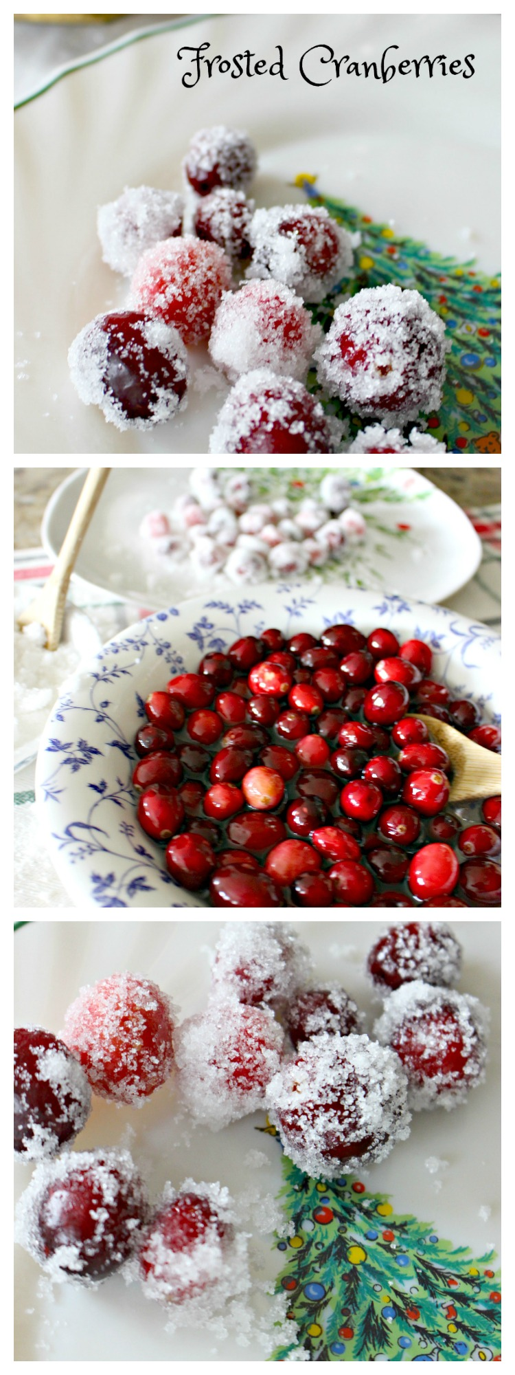 How to Sugar Cranberries to Make Frosted Cranberries for a Christmas Treat #ChristmasDinner