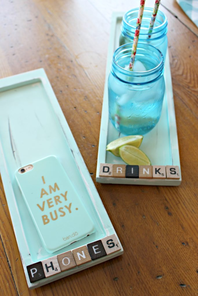Make Cute Trays to Corral Everyday Clutter, Like Drinks & Phones!