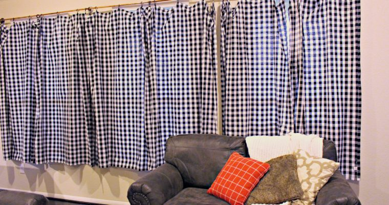 DIY Copper Pipe Curtains & Turning Tablecloths into Curtains