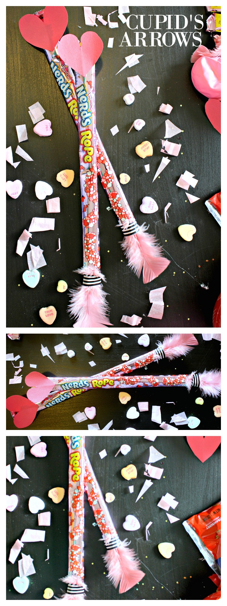 Looking for a Cheap & Easy Valentine's Day Gift?! These Candy Cupid's Arrows are Great for Any of Your Valentine's! #ValentinesDay #ValentinesDayGift