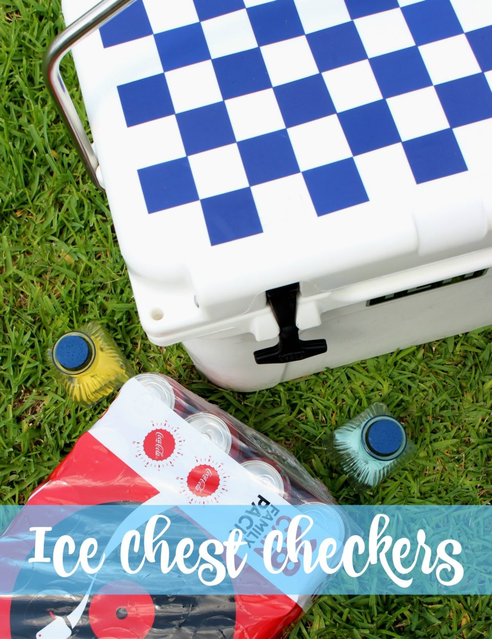 Ice Chest Checkers With Sea Shells