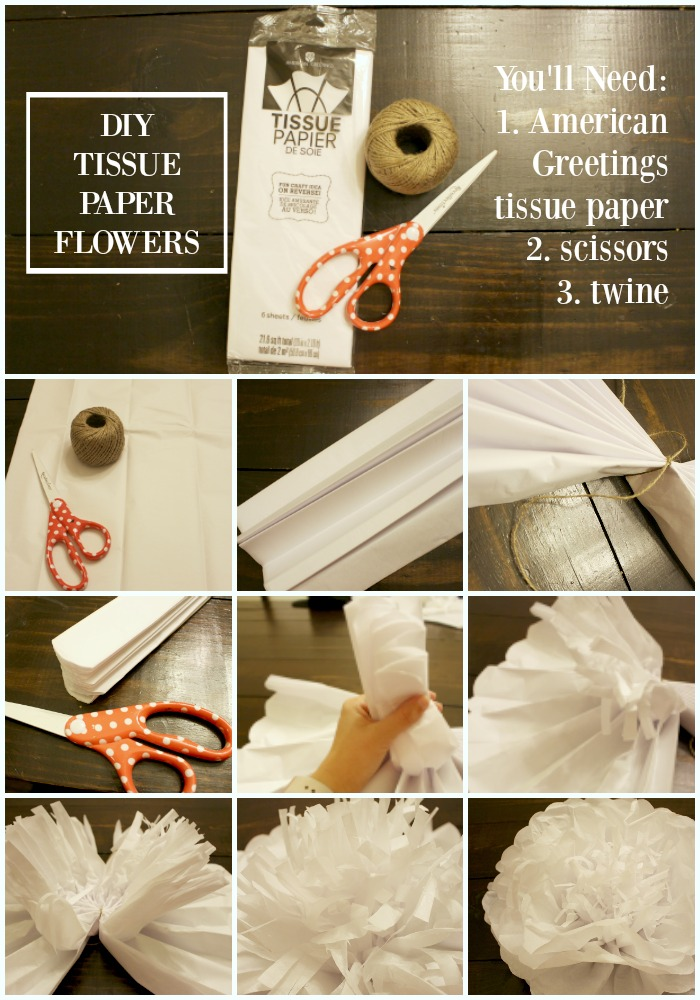 diy tissue paper floral backdrop for a photo booth
