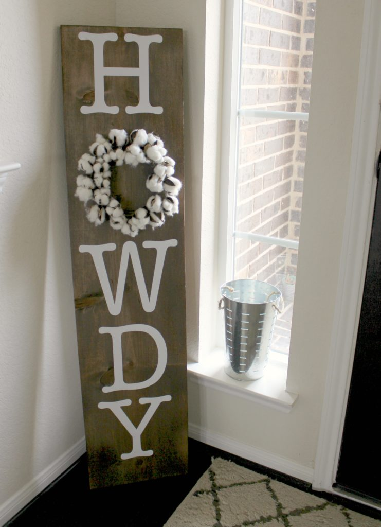 Howdy Porch Sign
