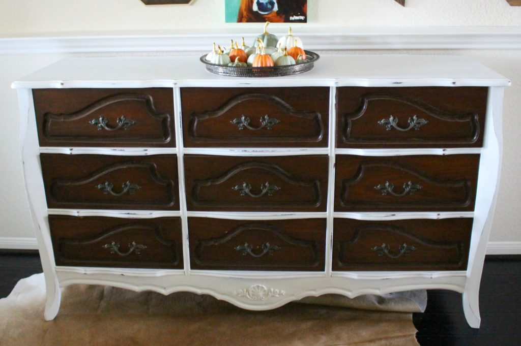 Two Tone Dresser Makeover How To Paint With Chalk Paint
